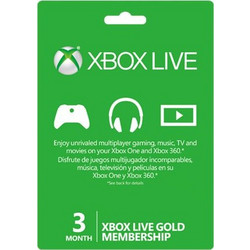 Xbox LIVE 3 Month Gold Subscription (Serial Code) S2T-00006