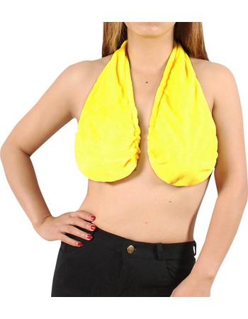 Σουτιέν - πετσέτα που στηρίζεται στο στήθος- Κίτρινο 14436ec9454