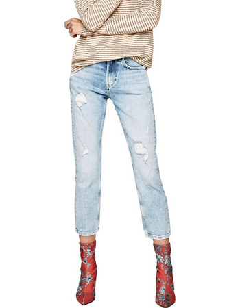 ff28e359286 PEPE JEANS MARY DENIM ΠΑΝΤΕΛΟΝΙ ΓΥΝΑΙΚΕΙΟ PL203057RE18-000 (000 DENIM)