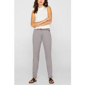 d48168d09d69 Esprit γυναικείο chinos παντελόνι με ριγέ ζώνη - 999EE1B800 - Γκρι
