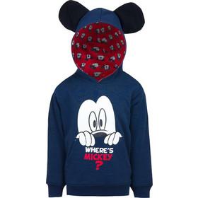 f9d272de3c7 Παιδική Μπλούζα με Κουκούλα Χρώματος Μπλε Mickey Disney HQ1454