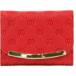 3baadb9fbe Κόκκινο πορτοφόλι με ανάγλυφο M