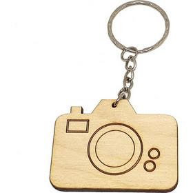 Ξύλινο μπρελόκ Φωτογραφική μηχανή Κωδ.564 21704b85236