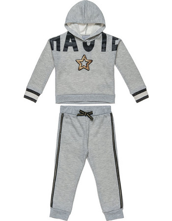 Alouette παιδικό σετ φόρμας φούτερ με letter print και παγιέτες παντελόνι  με χρυσές λεπτομέρειες - 00230566 74bc7d4cbc7