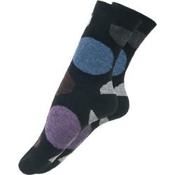 Μάλλινη γυναικεία κάλτσα μαύρη με σχέδιο πουά abae5fe762e