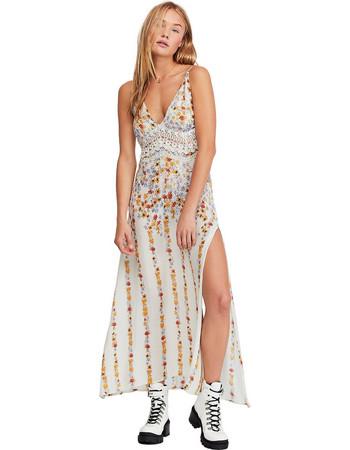c1067887e11d Free People γυναικείο φόρεμα εμπριμέ Claire Printed Maxi Slip - OB922530 -  Λευκό