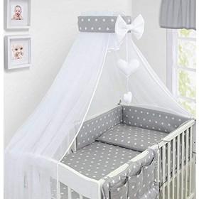 473ecbcdaaa Luxury Σετ Προίκας Μωρού για Κούνια 14 τμχ OEM με Κουνουπιέρα 120 x 60 cm -