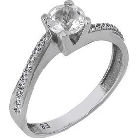 Μονόπετρο δαχτυλίδι Swarovski Κ14 με λευκή τοπάζ 027205 027205 Χρυσός 14  Καράτια 7bf2fa0a533