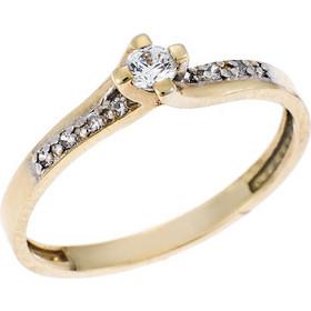 Μόνόπετρο Δαχτυλίδι από Χρυσό 9Κ σε Κίτρινο Χρώμα με Ζιργκόν 7d2274efd03