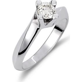 Δαχτυλίδι Μονόπετρο Φλόγα Λευκόχρυσο Με Διαμάντι - 002361 eb702d27a54