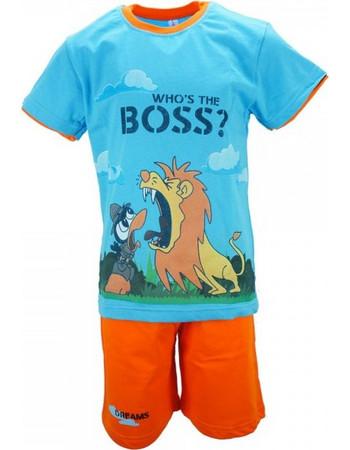 Παιδική Πυτζάμα Dreams 18104 Σιέλ Πορτοκαλί Αγόρι 29a6bcbc3a6