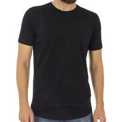 Ανδρικό Κοντομάνικη Μπλούζα T-Shirt FREE WAVE 81133 Μαύρο dcc70c4e78b