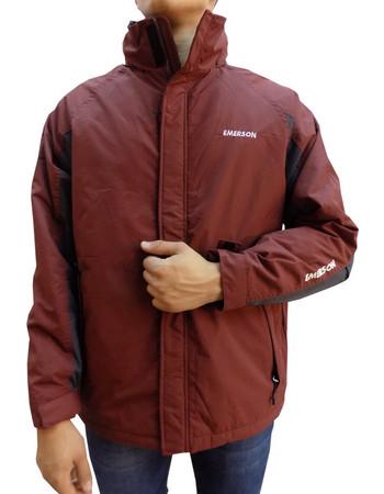Emerson Roll-In Hooded Jacket 182.EM10.83-Brick-Ebowy 90d32571427