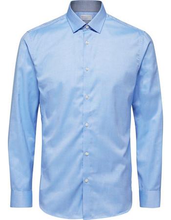 977f8fa100b7 SELECTED ανδρικό πουκάμισο μακρυμάνικο Slim fit - 16058640 - Ανοιχτό Γαλάζιο