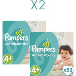 Pampers Active Baby Dry No4+ 9-16Kg 2x53τμχ c72f1d2689a