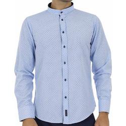 Ανδρικό Μακρυμάνικο Πουκάμισο με Γιακά Μάο CND Shirts AN-006 Sky Blue 0544a31f955