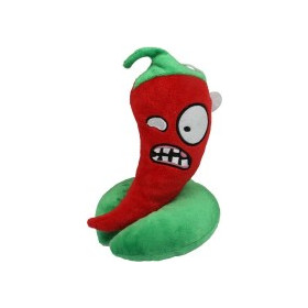Lovely Anger Pepper Plush Toy Decorations with Suction Cup,Size:19x15x15cm SK290348