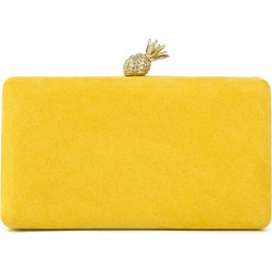 Κίτρινο clutch με κούμπωμα ανανά b6bf8055847