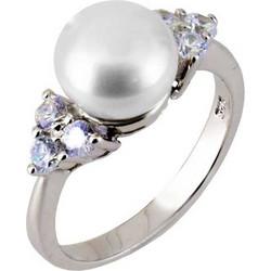 Ασημένιο δαχτυλίδι 925 με πέρλα και ζιργκόν DSL306A 3ad885192a3