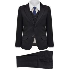 7cdfb30bab1 vidaXL Κοστούμι Παιδικό Επίσημο Τριών Τεμαχίων Μαύρο Μέγεθος 116/122