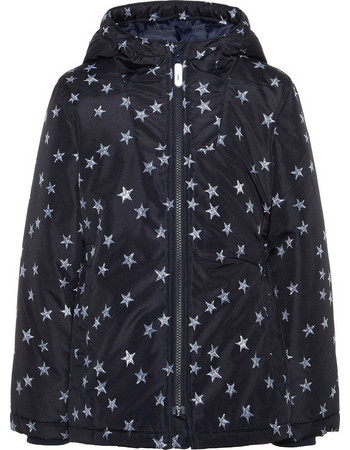 Name it Kid s Padded Star Print Winter Jacket 13158435 547388eebe2