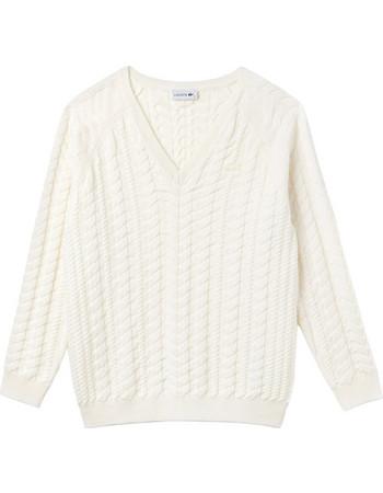 1fd2d6566db5 Lacoste γυναικεία πλεκτή μπλούζα με V λαιμόκοψη - AF8888 - Εκρού