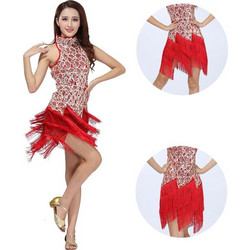 ccd4b9fa6c8 Γυναικεία Latin Στολή χορού με κρόσσια και πούλιες L35 7735