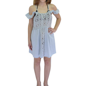 b1f6ca066a87 Φόρεμα αμάνικο Ble 5-41-789-0002 - γαλάζιο