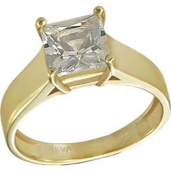 Δαχτυλίδι μονόπετρο χρυσό 14 καράτια με ορυκτό λευκό ζαφείρι swarovski(R) da6087c5703