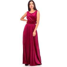 82ae7c4cb23f Μπορντό Βελούδινο Maxi Φόρεμα με Ανοιχτή Πλάτη Μπορντό Silia D