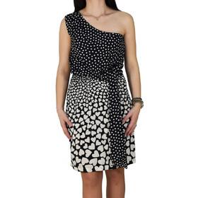 4af1168fb79e Φόρεμα Με Έναν Ώμο Toi Moi 50-0155-12 Μαύρο Πουά toimoi 50-0155. Toi   Moi