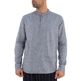 0c70ecd9e862 Ανδρικό ανθρακί πουκάμισο Ben Tailor μαο γιακά 1128F