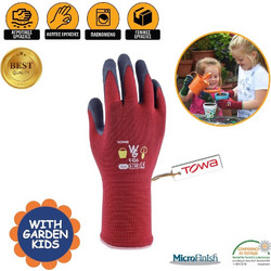 Γάντια Κήπου Κόκκινα Παιδικά με Επίστρωση Latex TOWA - 6 XS d32b732a421