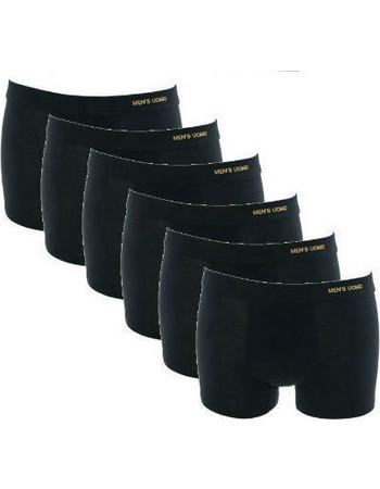 Ανδρικά βαμβακερά εσώρουχα μπόξερ μαύρα 6 τεμάχια 8208458cff7