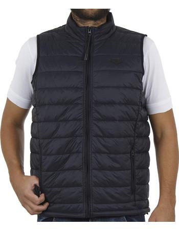 Ανδρικό Αμάνικο Μπουφάν Puffer Vest Jacket DOUBLE SMJK-06 Navy 9a6079fe818