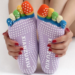 Aντιολισθητικές χρωματιστές κάλτσες ιδανικές για yoga XIANZUXIU - Anti-slip  yoga Socks OEM 21809 70395b1144c