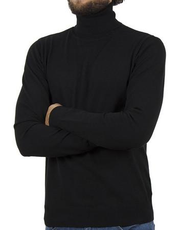 b4c1e0bc3846 Ανδρικό Ζιβάγκο Πλεκτή Μπλούζα SMART +amp CO 40-206-020 Μαύρο