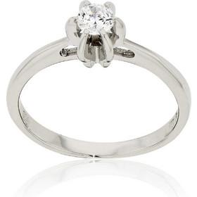 Δαχτυλίδι Μονόπετρο Λευκό Χρυσό 14 Καρατίων Κ14 με Πέτρες Ζιργκόν 003122 08424689420