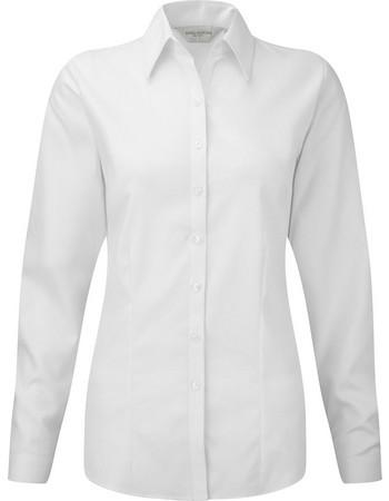 01a7f6cb64e3 Μακρυμάνικο γυναικείο πουκάμισο Russell R-962F-0 - White