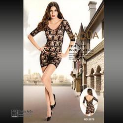 6e88d0af8dbb Σέξυ Μίνι Φόρεμα Δαντέλα με Μακριά Μανίκια 8976 - Sexy Lingerie  Bodystockings