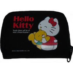 a28b23ca5e Πορτοφόλι υφασμάτινο μαύρο Hello Kitty Hug Friends original