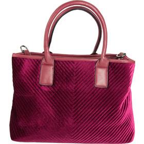ac5e1883a1 Γυναικεία μπορντό τσάντα ώμου βελούδινη καπιτονέ.