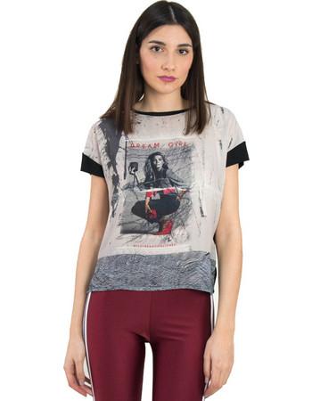 59c64add2357 Γυναικεία μαύρη μπλούζα με προσωπογραφία So Sexy 31029