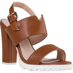 35908b1356 Γυναικείο Πέδιλο από Συνθετικό Δέρμα με Χοντρό Τακούνι Ύψους 12 cm από την  Envie Shoes σε