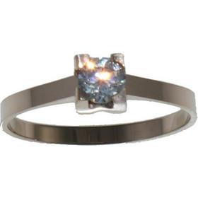 Ατσάλινο δαχτυλίδι Art Collection N-02317 μονόπετρο σε ροζ χρυσό χρώμα b7b949b1ee4