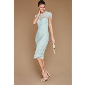 6b325beed566 Perfectdress. Άμεσα διαθέσιμο. sophisticated midi φόρεμα chantilly δαντέλα  σε mint