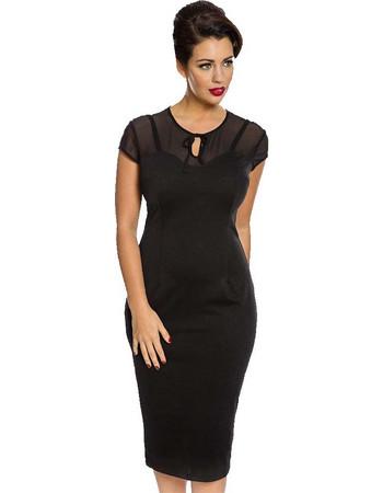 vintage classic black pencil φόρεμα Marlene 192470e9153