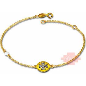 χρυσό βραχιόλι με σταυρό AX0449LAV8 7ef3f3c61dd