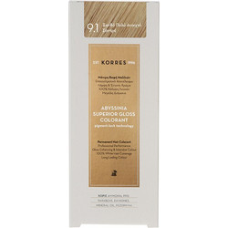 Korres Abyssinia Superior Gloss Colorant 9.1 Ξανθό Πολύ Ανοιχτό Σαντρέ 50ml