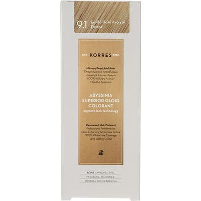 Korres Abyssinia Superior Gloss Colorant 9.1 Ξανθό Πολύ Ανοιχτό Σαντρέ 50ml 3f24d4950db